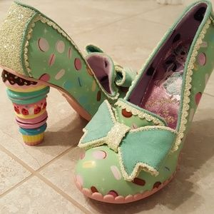 Little Kisses Macaron Mint Pumps